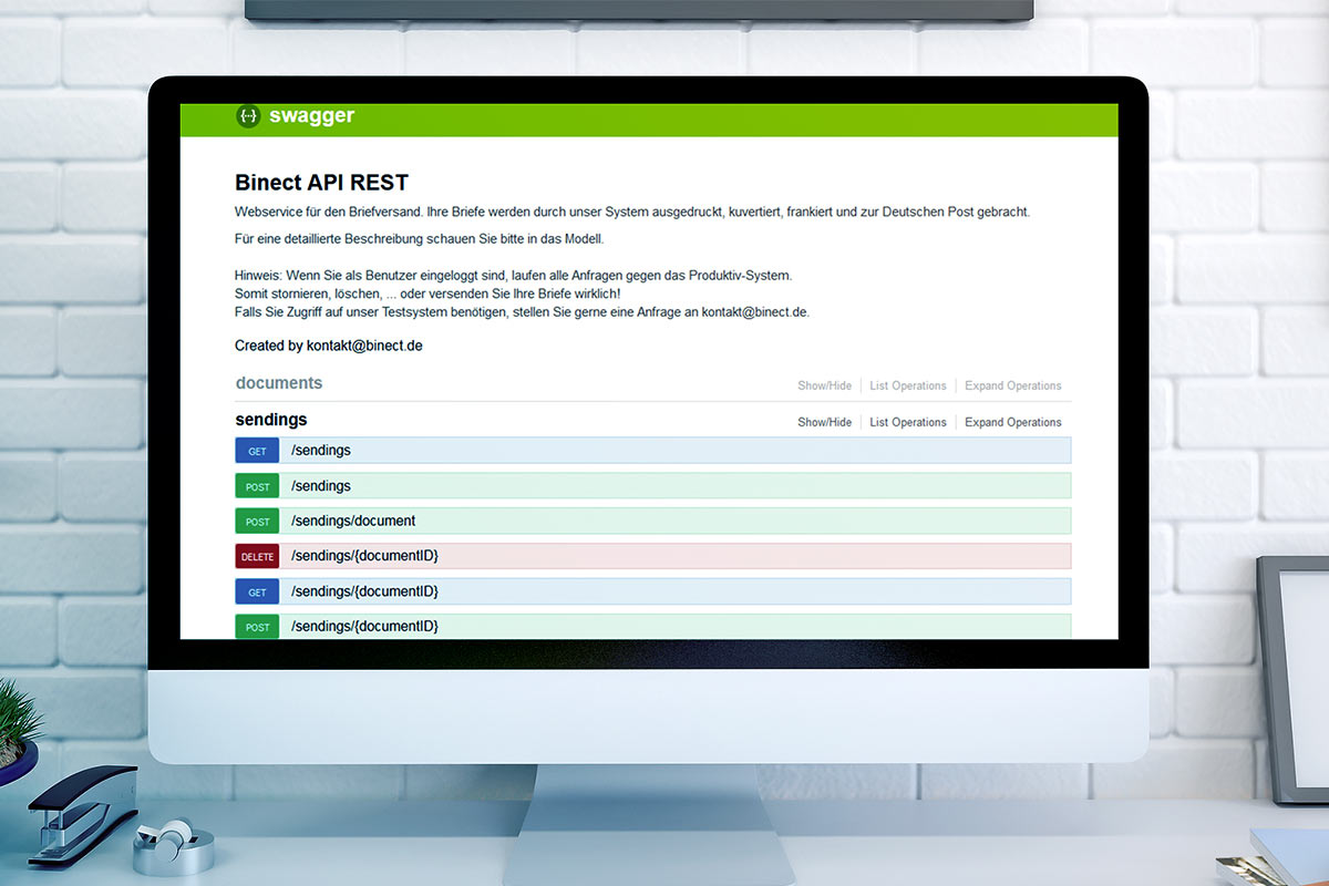 Briefe digital versenden per Webservice API