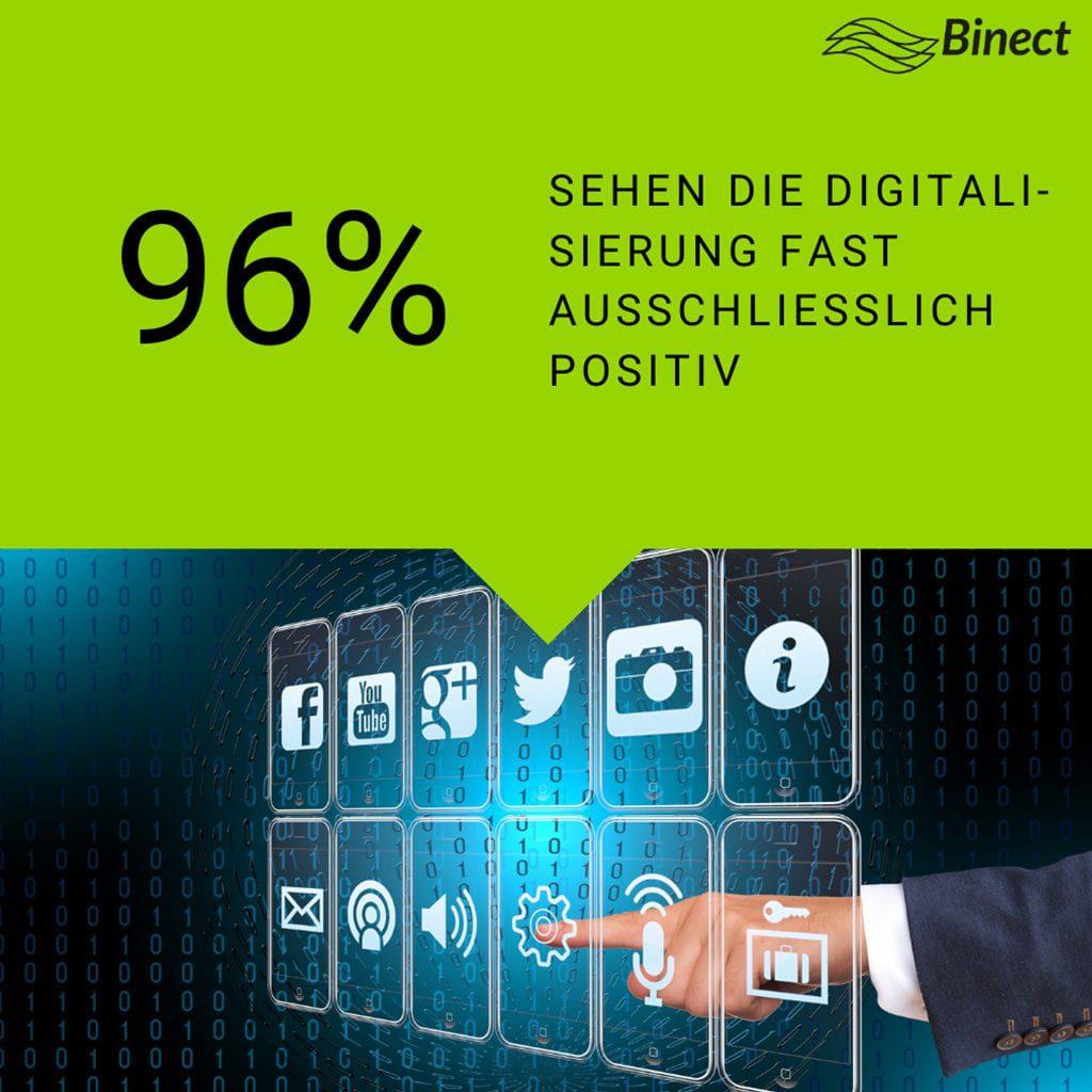 Eine Hand zeigt auf digitale Icons.