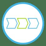 Icon das den Status des digitalen Briefversands andeuten soll.