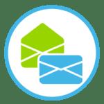 Icon, dass zwei Briefumschläge zeigt, die als Postzustellungsauftrag digital versendet werden sollen.