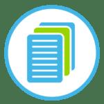 Icon zeigt mehrere Blatt Papier hintereinander.