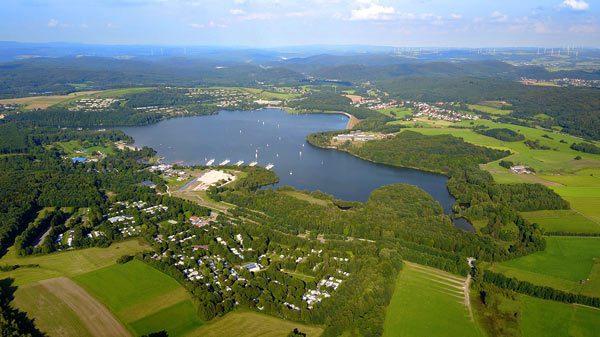 Luftbild Bostalsee Landkreis St. Wendel